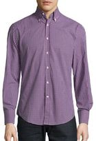 Brunello Cucinelli Check Pattern Cotton Shirt