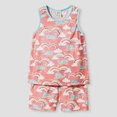 Nite Nite Munki Munki Girls' Pajama Sets Tank and Shorts Sets Coral