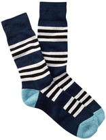 1901 Striped Cushioned Sole Over-the-Calf Socks
