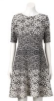Jessica Howard Women's Embroidered Fit & Flare Dress