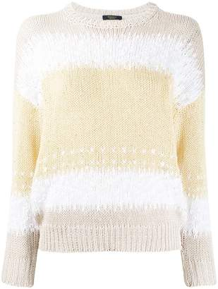 Peserico striped knit jumper