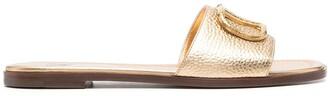 Valentino VLOGO-plaque sandals