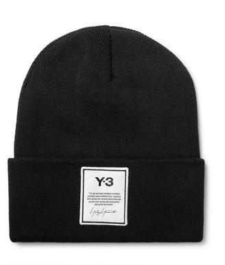 Y-3 Logo-appliqued Cotton Beanie - Black