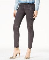 Hudson Cropped Skinny Cargo Jeans, Smoky Dark Wash