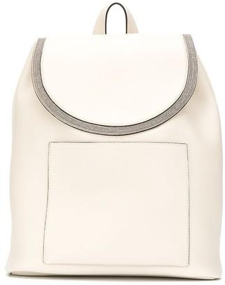 Brunello Cucinelli Leather Monili Embellished Backpack