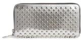 Christian Louboutin Women's Panettone Spiked Metallic Leather Wallet - Metallic