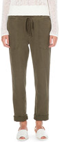 James Perse Tapered cotton and linen-blend trousers