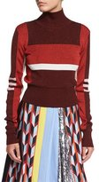 Emilio Pucci Colorblock Turtleneck Sweater, Red