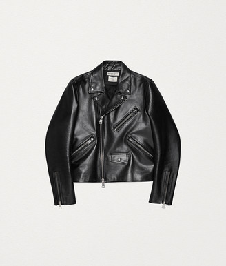 Bottega Veneta BIKER JACKET IN ROUGH CALF