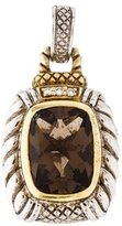 Judith Ripka Two-Tone Smoky Quartz & Diamond Pendant