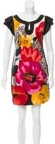 Yoana Baraschi Floral Print Silk Dress