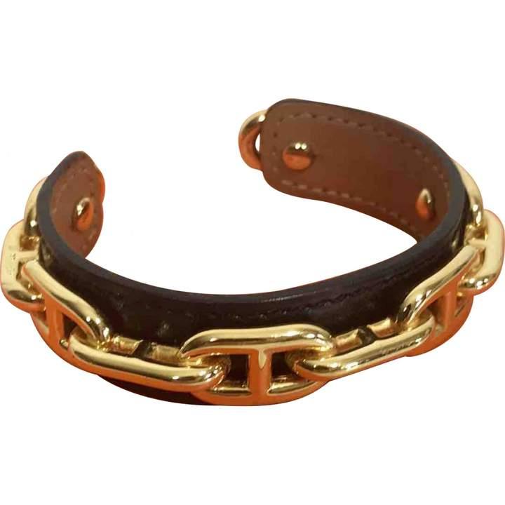 Hermes Chaîne d'Ancre leather bracelet