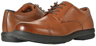 Nunn Bush Melvin Street Cap Toe Oxford with KORE Slip Resistant Walking Comfort Technology (Black) Men's Lace Up Wing Tip Shoes