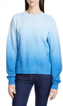 Proenza Schouler White Label Slit Hem Ombre Sweatshirt