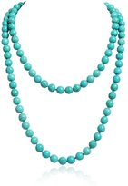 Jane Stone Elegant Two Layer Round Beads Classic Bib Necklace for Women(Fn1273-CA)