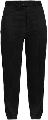 Marissa Webb Cropped Lace-trimmed Cotton-blend Slim-leg Pants