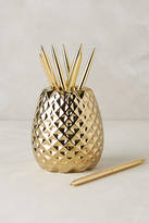 Anthropologie Pineapple Pencil Holder