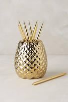 Anthropologie Pineapple Pencil Holder