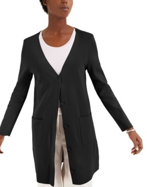 Alfani Open-Front Long Cardigan, Created for Macy's