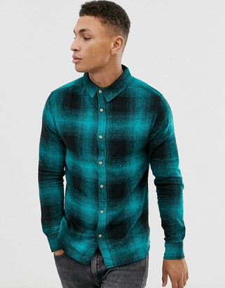 Soul Star fitted check shirt-Green