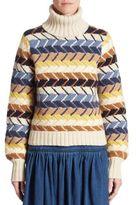 Chloé Herringbone Turtleneck Sweater