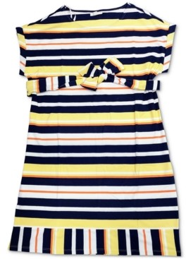 Charter Club Petite Striped Stretch Shift Dress, Created for Macy's