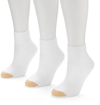 Gold Toe GOLDTOE CoolMax 3-pk. Quarter-Crew Socks - Women