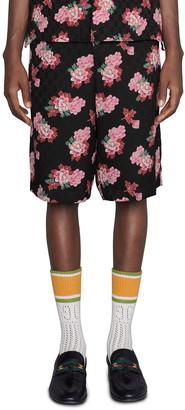 Gucci Peony Fantasy GG Silk Jacquard Shorts