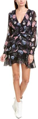 Nicholas Floral Silk A-Line Dress