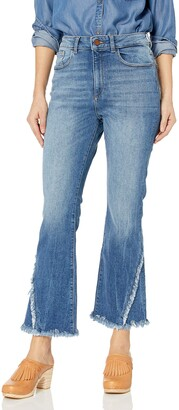 DL1961 Women's Wallace High Rise Cropped Flare
