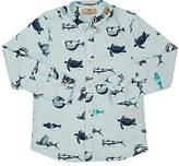 Scotch Shrunk OCEAN-LIFE BUTTON-FRONT SHIRT