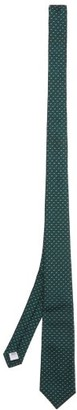 Burberry Embroidered Silk-faille Tie - Mens - Green