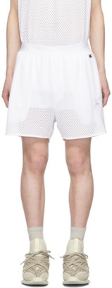 Rick Owens White Champion Edition Mesh Basketball Shorts