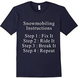 Lego Men's Snowmobiling Instructions T-Shirt 2XL