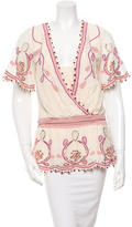 Temperley London Sequin Embellished Embroidered Top