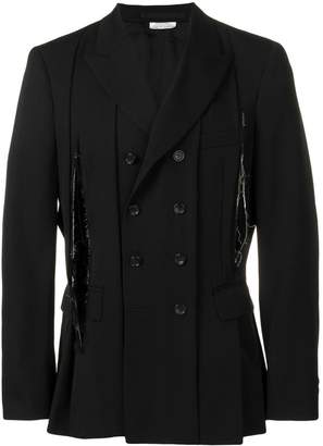 Comme des Garcons shredded pleated blazer