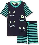 Pumpkin Patch Boy's Monster Eyes Pj Set Plain Pyjama Set,4