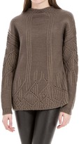 Max Studio Heathered Wool And Alpaca Pullover Sweater