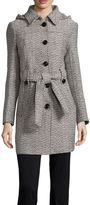 Liz Claiborne Belted Pea Coat - Tall