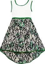 Sunny Fashion JM32 Girls Dress Hi-lo Maxi Chiffon Lace Party