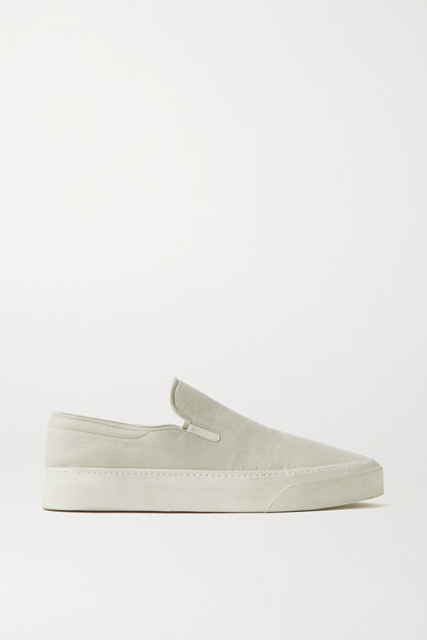 Thumbnail for your product : The Row Marie H Canvas Slip-on Sneakers - Stone