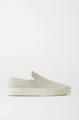The Row Marie H Canvas Slip-on Sneakers - Stone