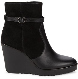 Rebecca Minkoff Leisel Suede Leather Wedge Boots