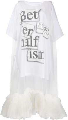 MM6 MAISON MARGIELA tulle layered T-shirt dress