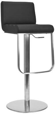 Orren Ellis Barber Swivel Upholstery Adjustable Height Bar Stool
