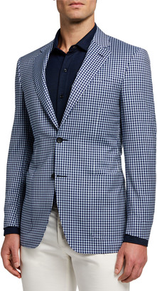 Canali Men's Check Two-Button Jacket