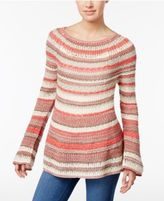 Style&Co. Style & Co Boat-Neck Striped Sweater, Only at Macy's