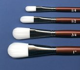 Rob-ert Robert Simmons White Sable Watercolor Brush Oval Wash 1 4""