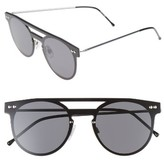 Spitfire Women's Prime 49Mm Frameless Sunglasses - Silver/ Black