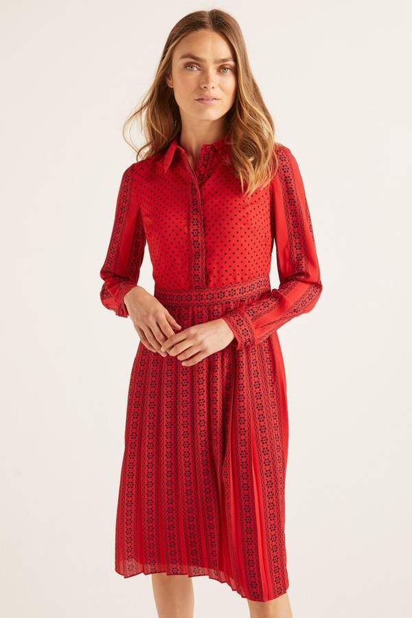 Boden Womens Red Clemency Shirt Dress - Red
